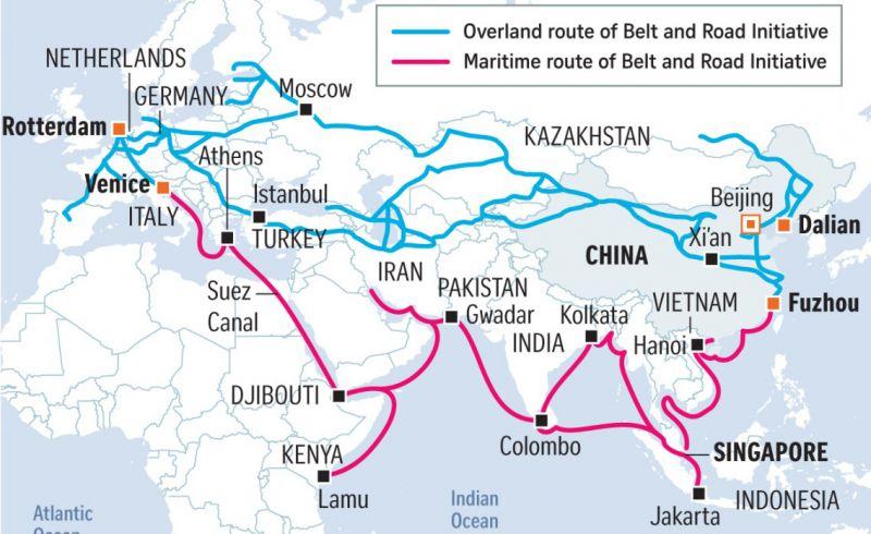 China-Belt-and-Road-Initiative-map-upsc-ias